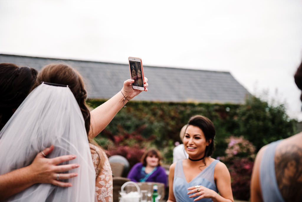 Guests taking photo.