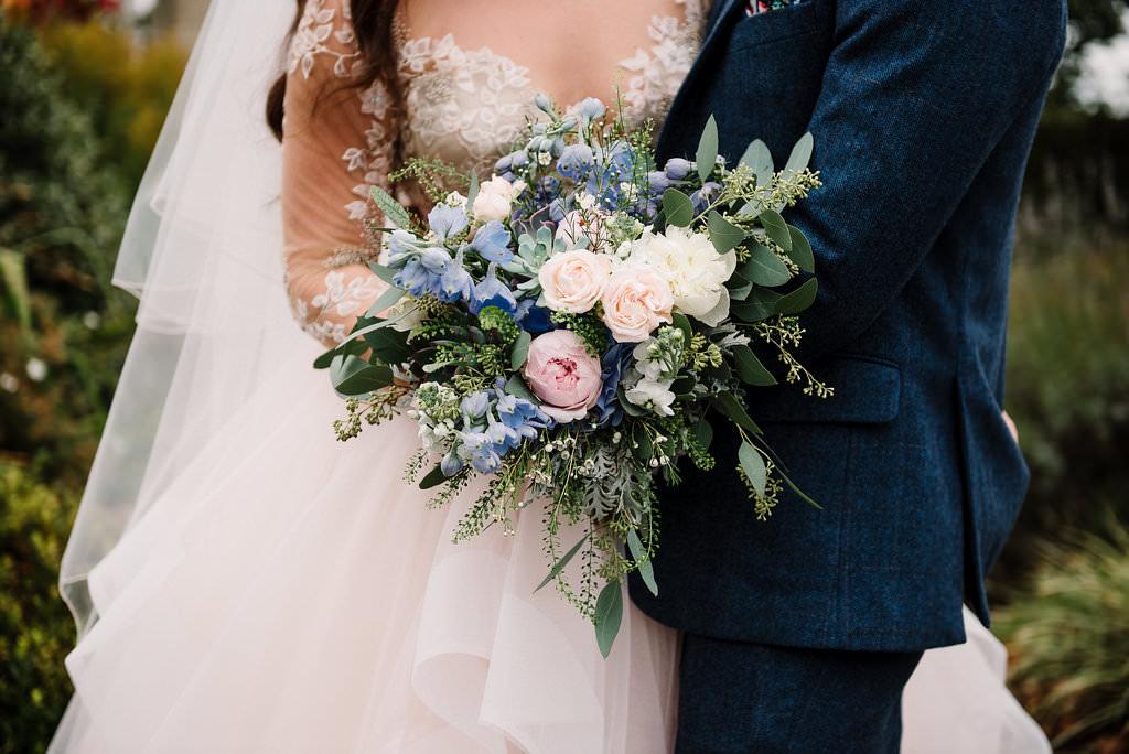 Elegant vintage styled wedding bouquet. Lancashire wedding photography