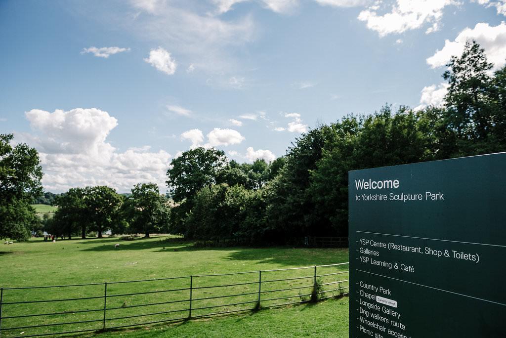Views from a Yorkshire Sculpture Park wedding.