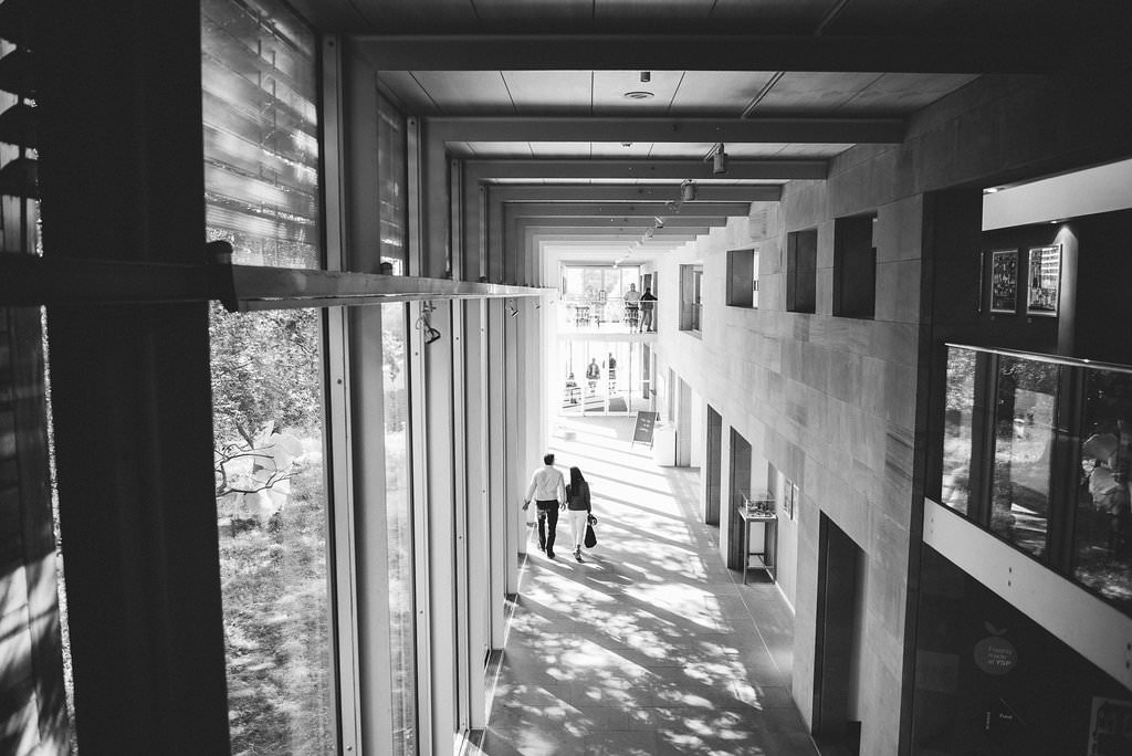 black and white photo of inside YSP
