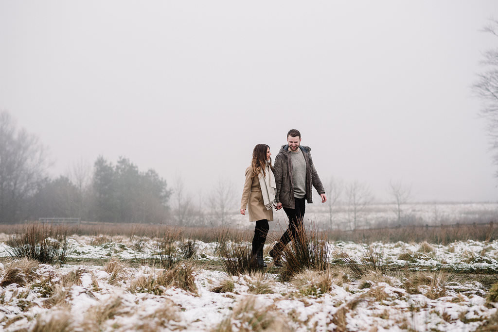 Couple walking together. Natural photography