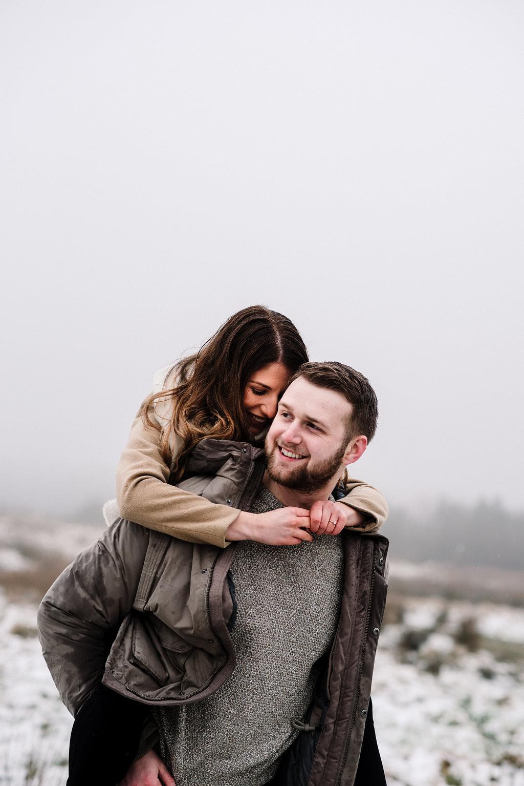 Intimate portrait of couple together. Lancashire lifestyle photography