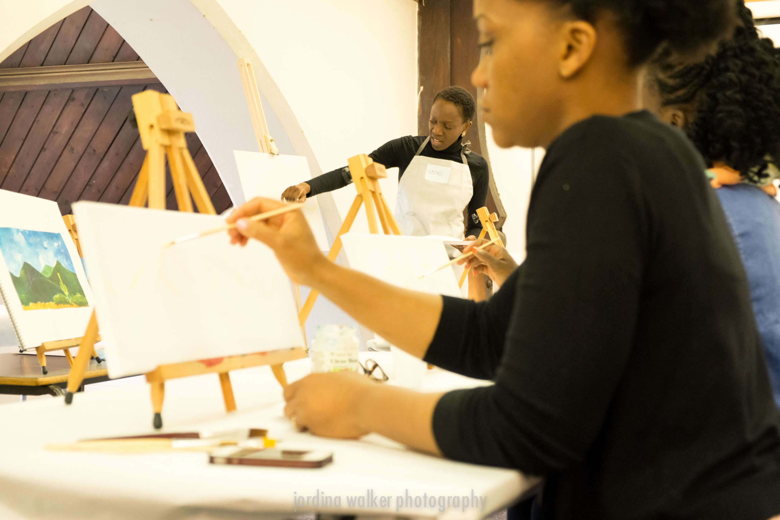 Sip and Paint: Mummy's Lunch Date: A Collaborative event with VivaciousU   Participants are taken step by in painting their canvas.