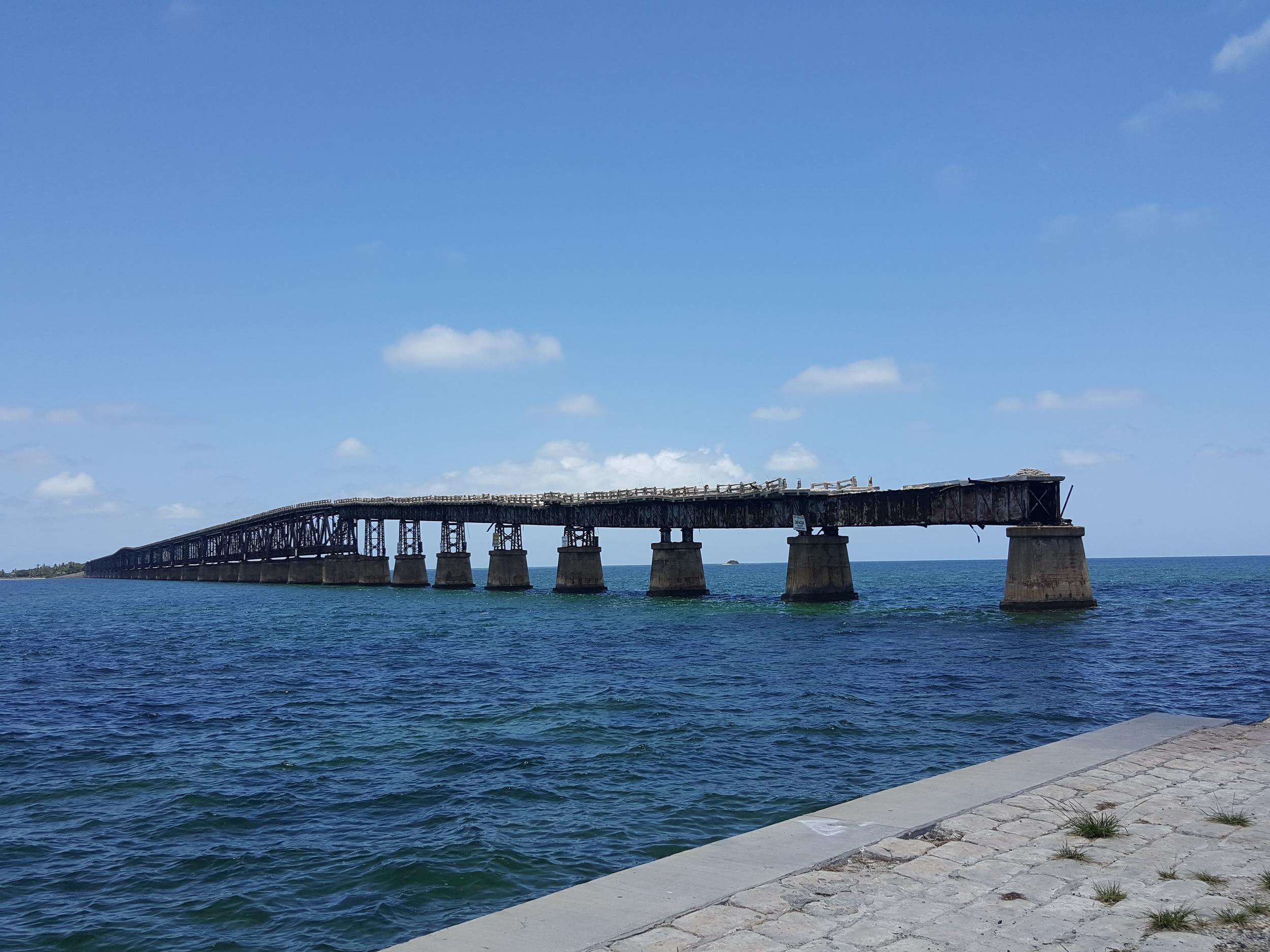 The Old Bahia Honda Railway Bridge, destroyed by a hurricane in 1935.
