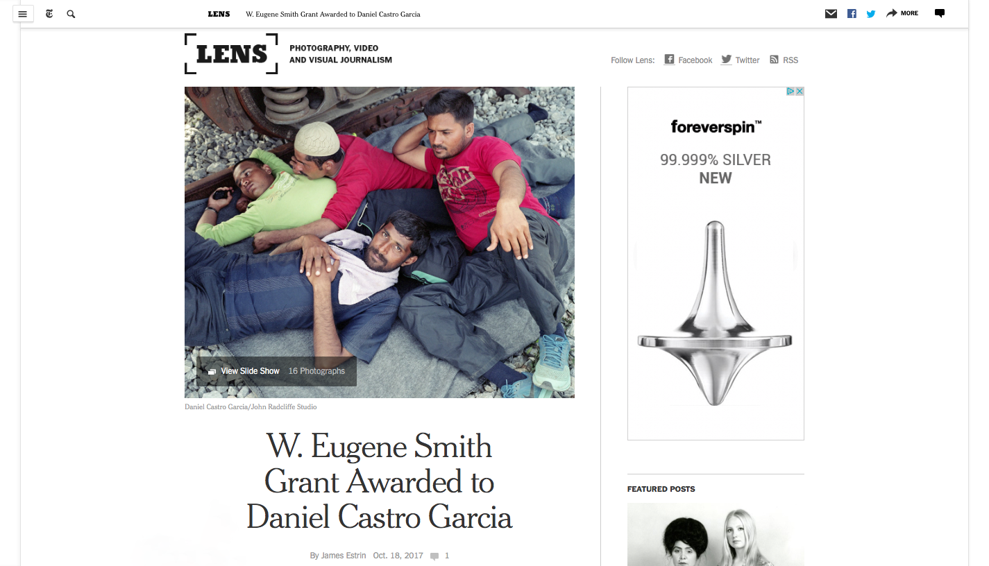 New York Times Lens Blog - October 2017
