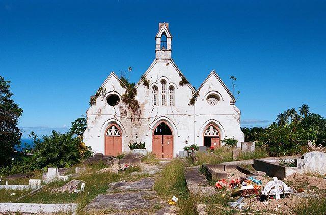 I love exploring #exploring #abandoned #film #24mm #nikonf100 #ektar100 #barbados #church