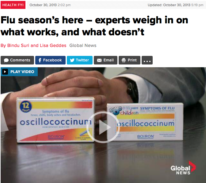 Global News - Flu Season What Works & What Doesn't