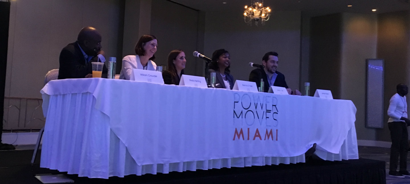 With the help of the Knight Foundation, PowerMoves hosted a 3-day conference in Miami including pitch competitions, networking events, and expert panels. The judges listen to 5 founders pitch their companies to investors in the audience for a chance to win $25,000 in capital.