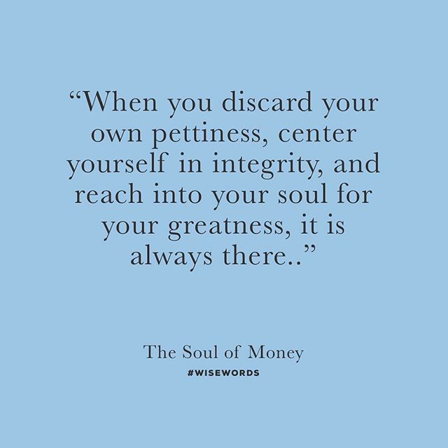 "Words of wisdom, taken from this amazing book we are reading called ""The Soul of Money"" by Lynne Twist!💵💰"