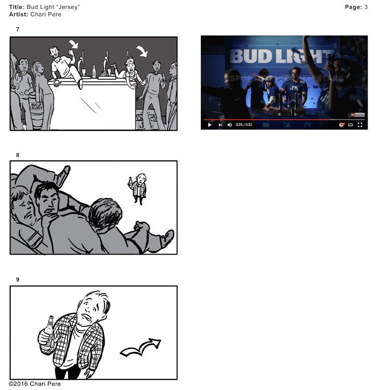 "Bud Light Commercial, ""Jersey"", Pg 3"