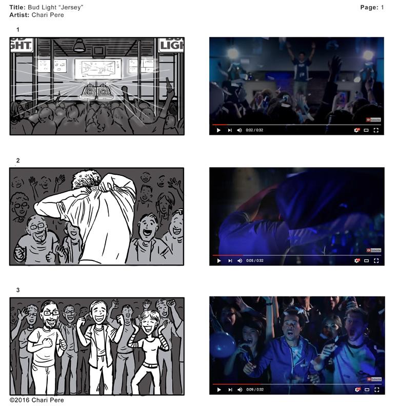 "Bud Light Commercial: ""Jersey"", Pg 1"