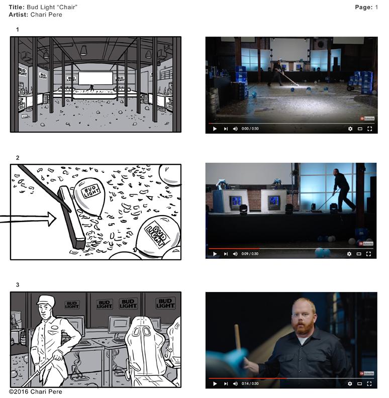 "Bud Light Commercial: ""Chair"", Pg 1"