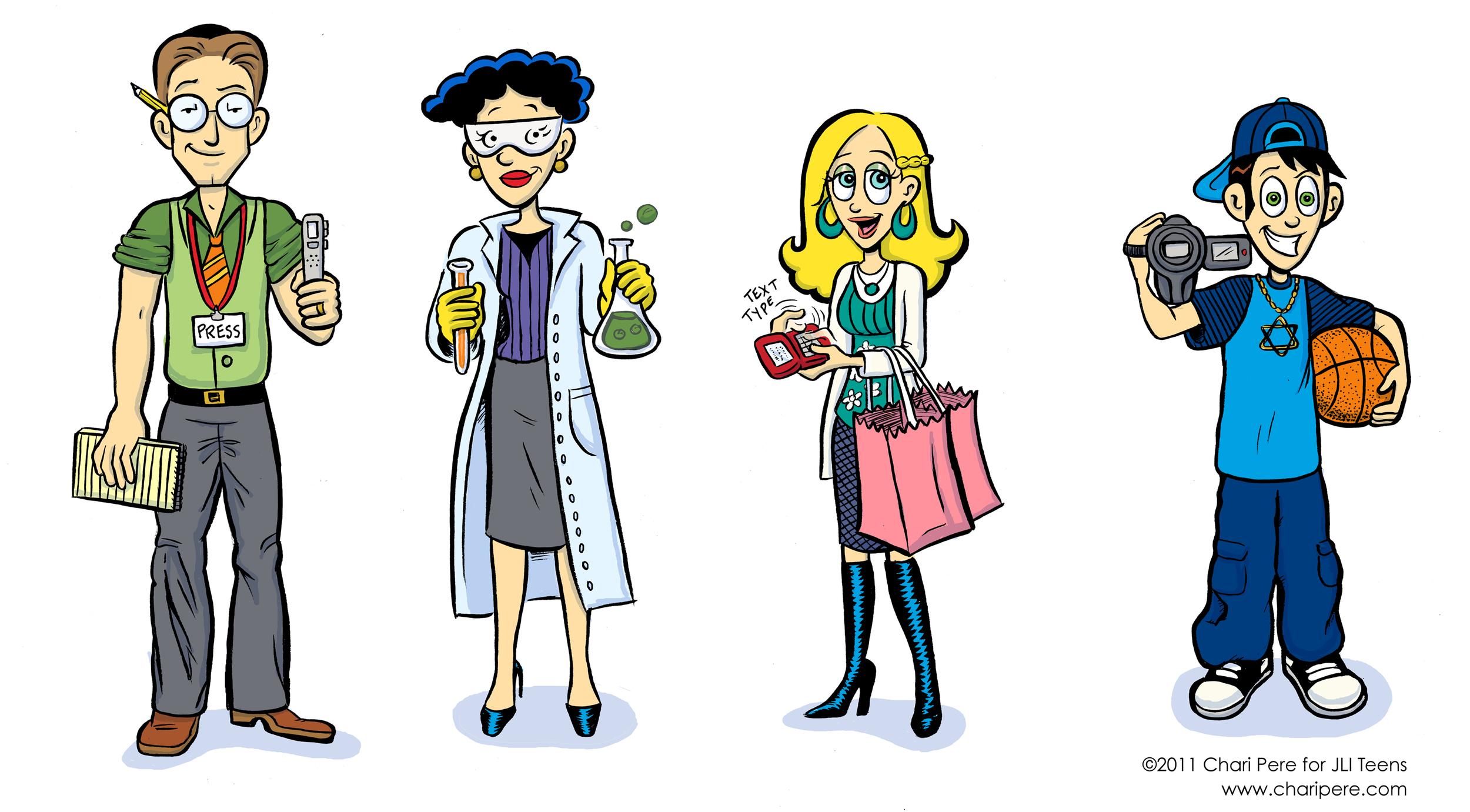 Character Designs for JLI Teens