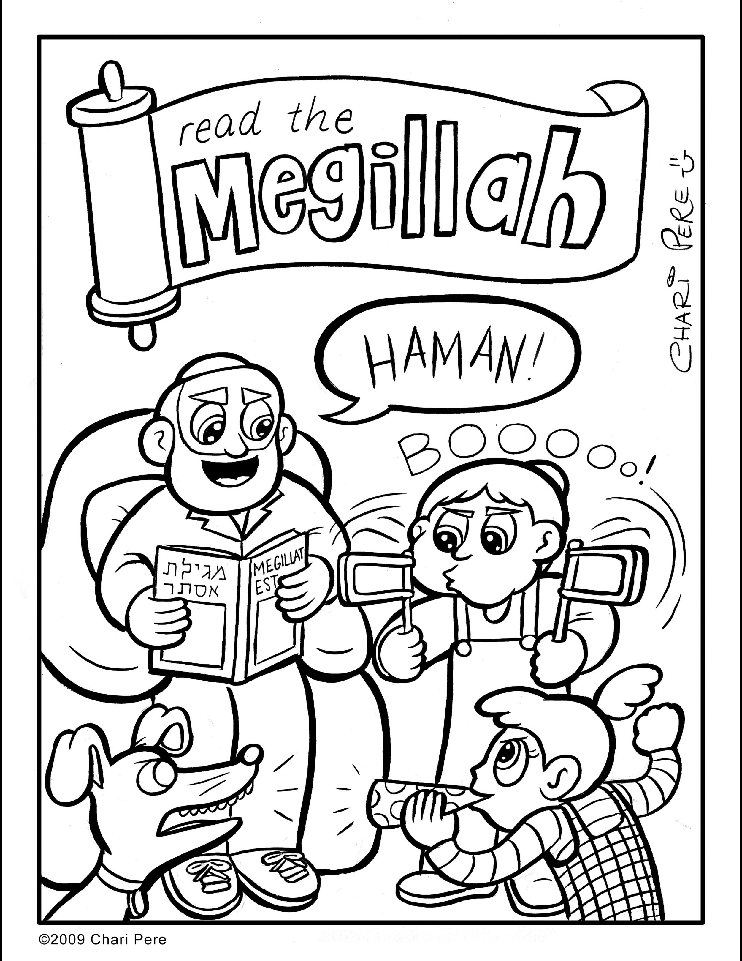 Kids' Purim Coloring Page for The Orthdox Union