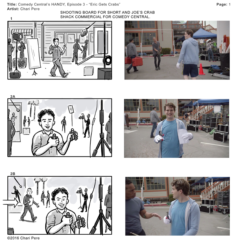 "Comedy Central's HANDY, Episode 3 - ""Erik Gets Crabs"" Pg 1"