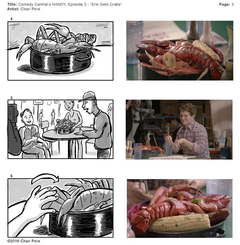 "Comedy Central's HANDY, Episode 3 - ""Erik Gets Crabs"" Pg 3"