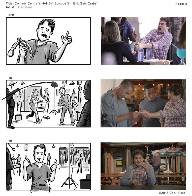 "Comedy Central's HANDY, Episode 3 - ""Erik Gets Crabs"" Pg 8"