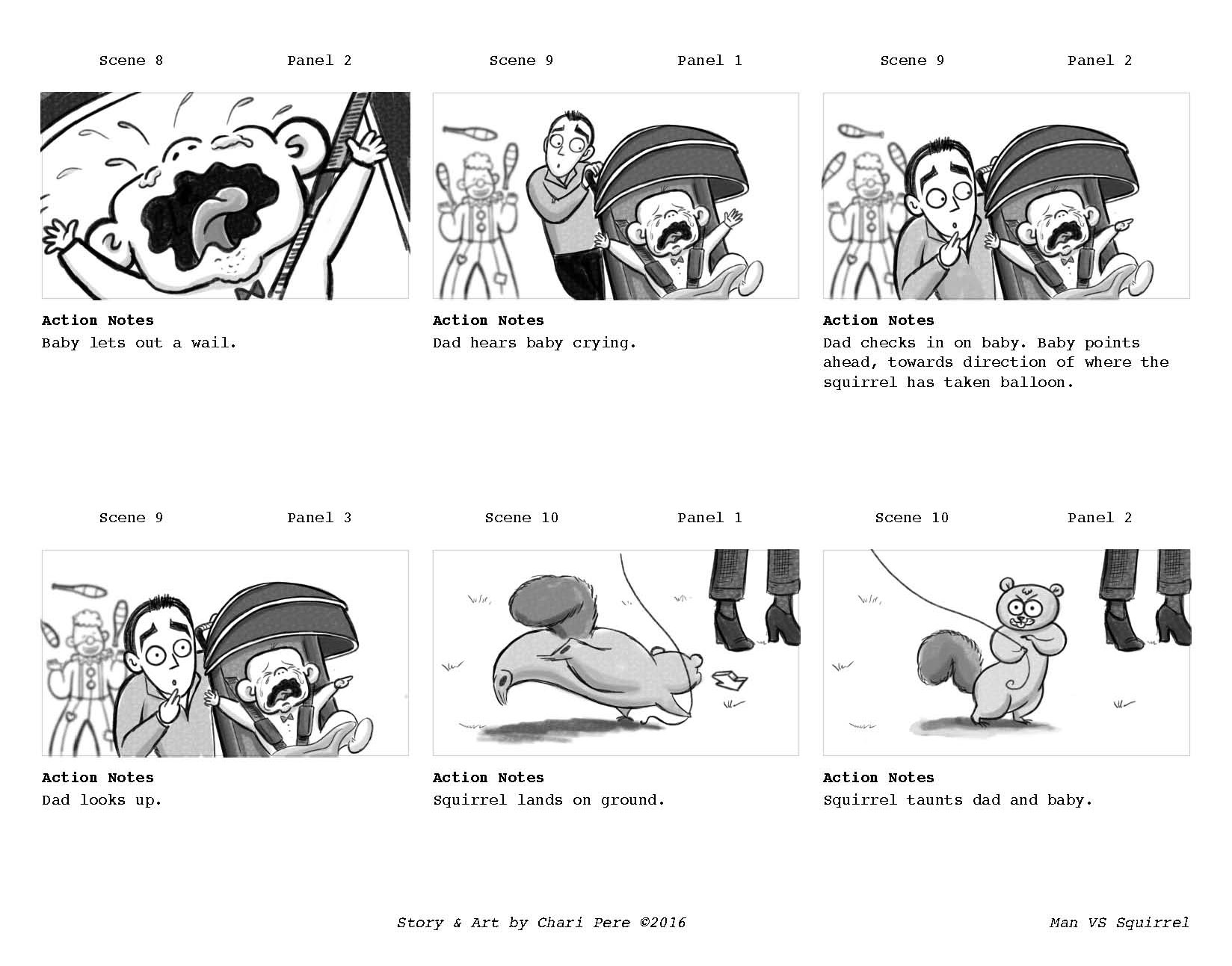 Man VS Squirrel Storyboards