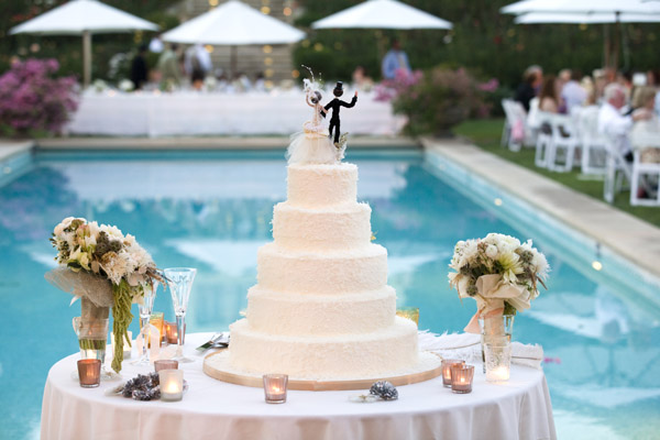 www.santabarbarawedding.com | Our Lady of Mount Carmel Ceremony | Melissa Musgrove Photography | Wedding Cake