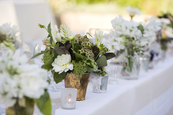 www.santabarbarawedding.com | Our Lady of Mount Carmel Ceremony | Melissa Musgrove Photography | Flower Arrangements