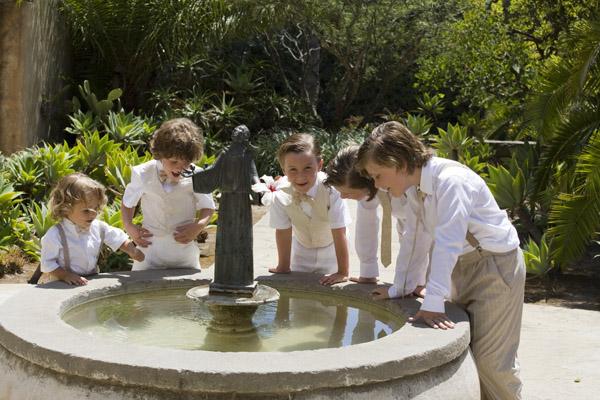 www.santabarbarawedding.com | Our Lady of Mount Carmel Ceremony | Melissa Musgrove Photography | Fountain