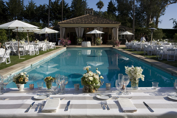 www.santabarbarawedding.com | Our Lady of Mount Carmel Ceremony | Melissa Musgrove Photography | Reception Tables