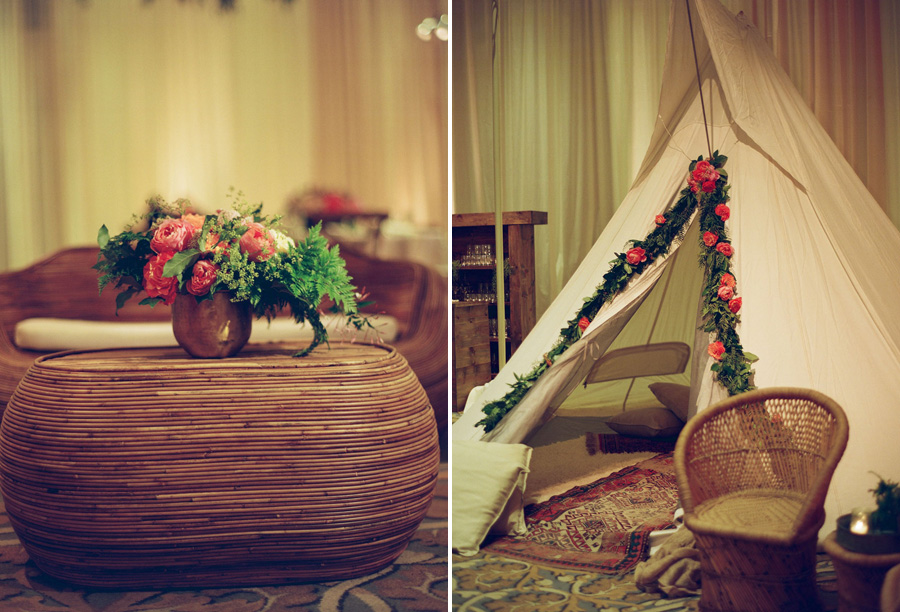 santabarbarawedding.com | Photographer: Megan Sorel | Blush Real Wedding at Bacara Resort & Spa | Teepee Wedding Ideas