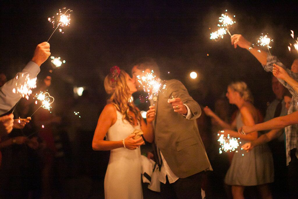 santabarbarawedding.com | Santa Barbara Wedding Style Blog | love | Sparkler Exit | Soleil Events Kissing | Wedding Couple | Wedding Inspiration