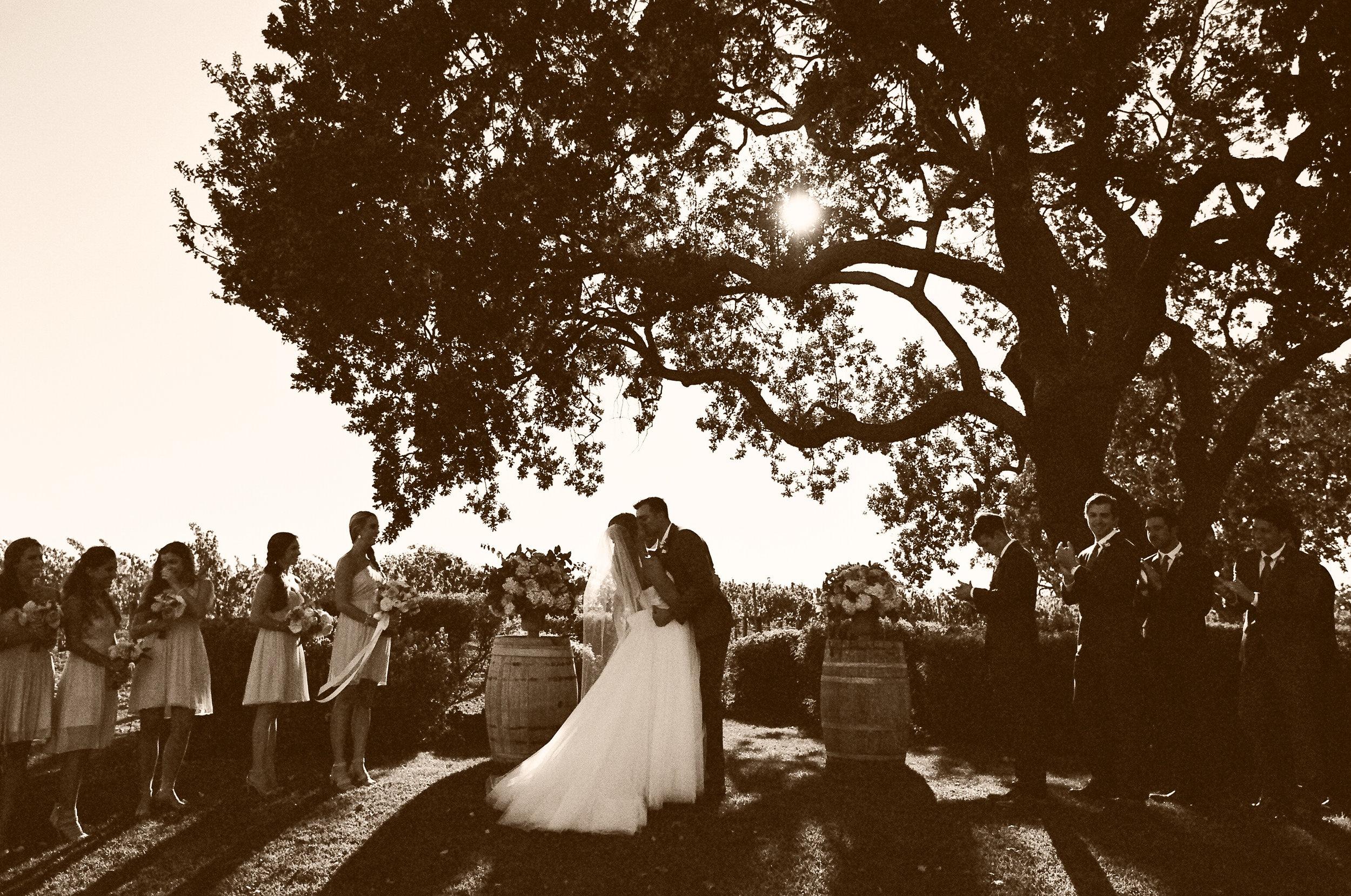 santabarbarawedding.com | Photographer: Beaux Arts Photographie | Peach Garden Wedding at Gainey Vineyard