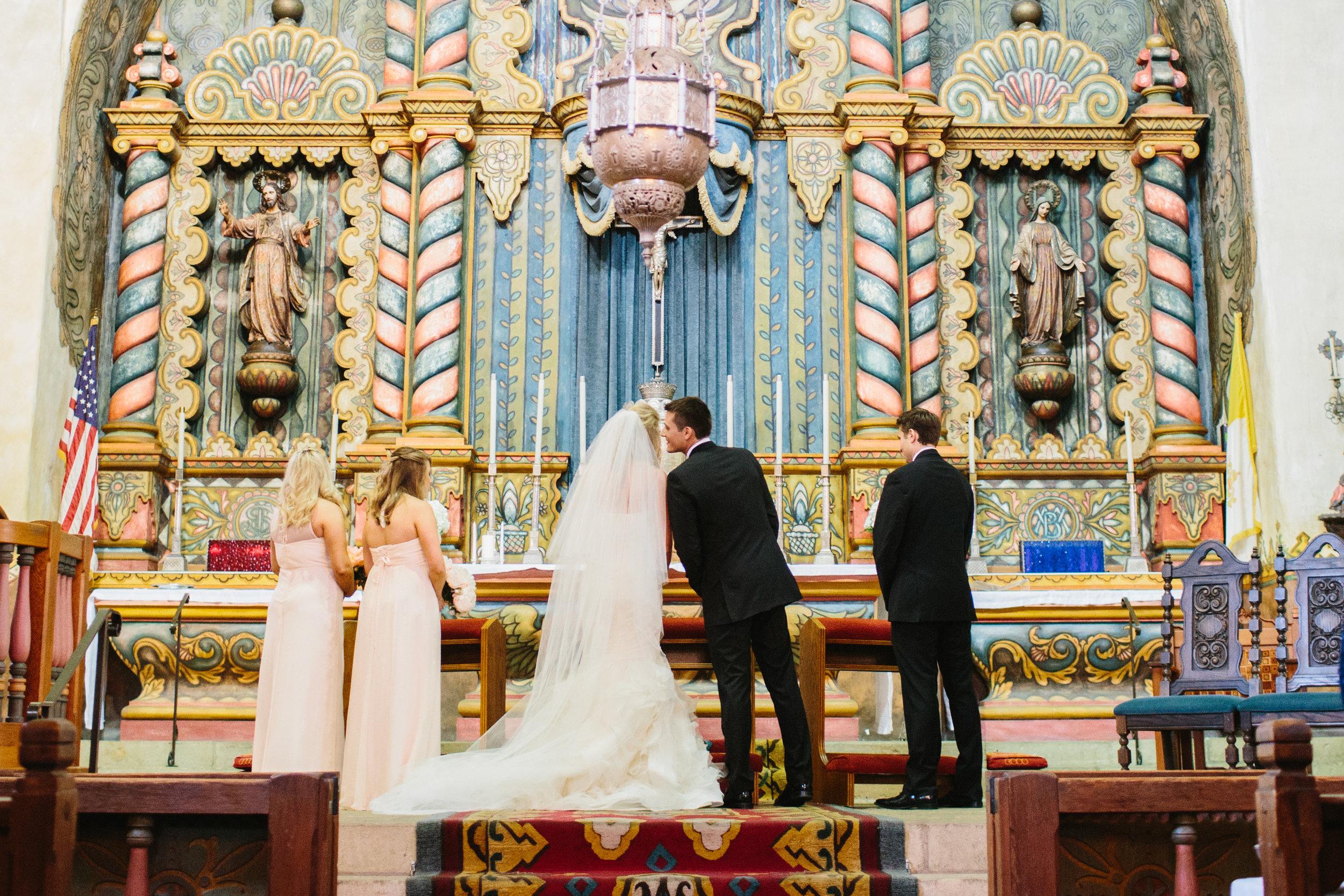 santabarbarawedding.com | Photo: Marianne Wilson | Our Lady of Mt. Carmel Wedding Ceremony Ideas