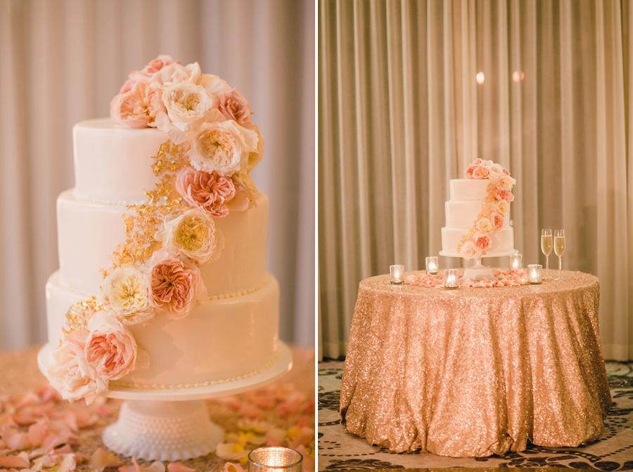 www.santabarbarawedding.com | Santa Barbara Wedding Style |  Buttercream frosting Three tier wedding cake | Mi Belle Photography | XOXO Events | Belmond El Encanto