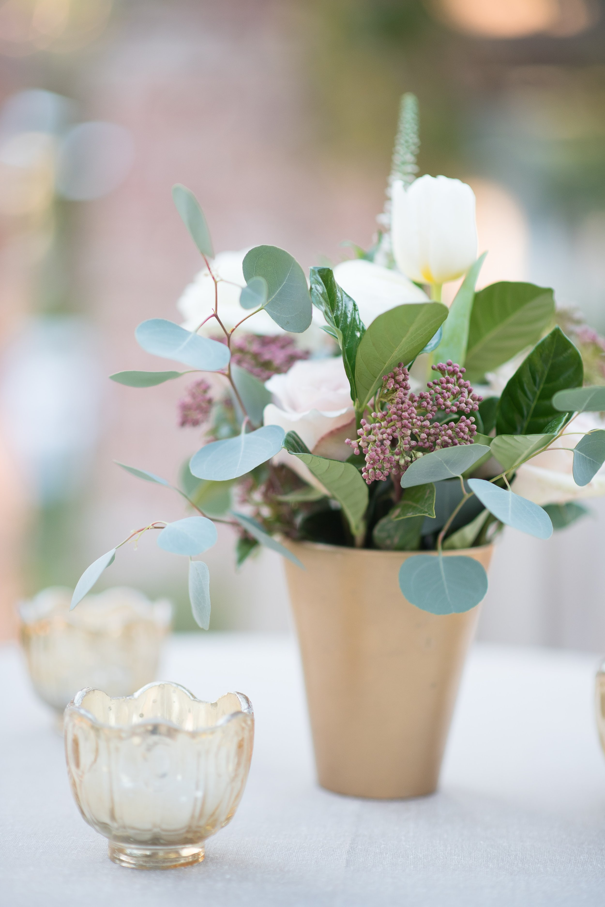 www.santabarbaraweddingstyle.com | San | Felici Events | El Encanto | Nate & Jenny Weddings | Bellavista Designs Lighting | Precious and Blooming | Wedding Ceremony | Cocktail Floral Gold