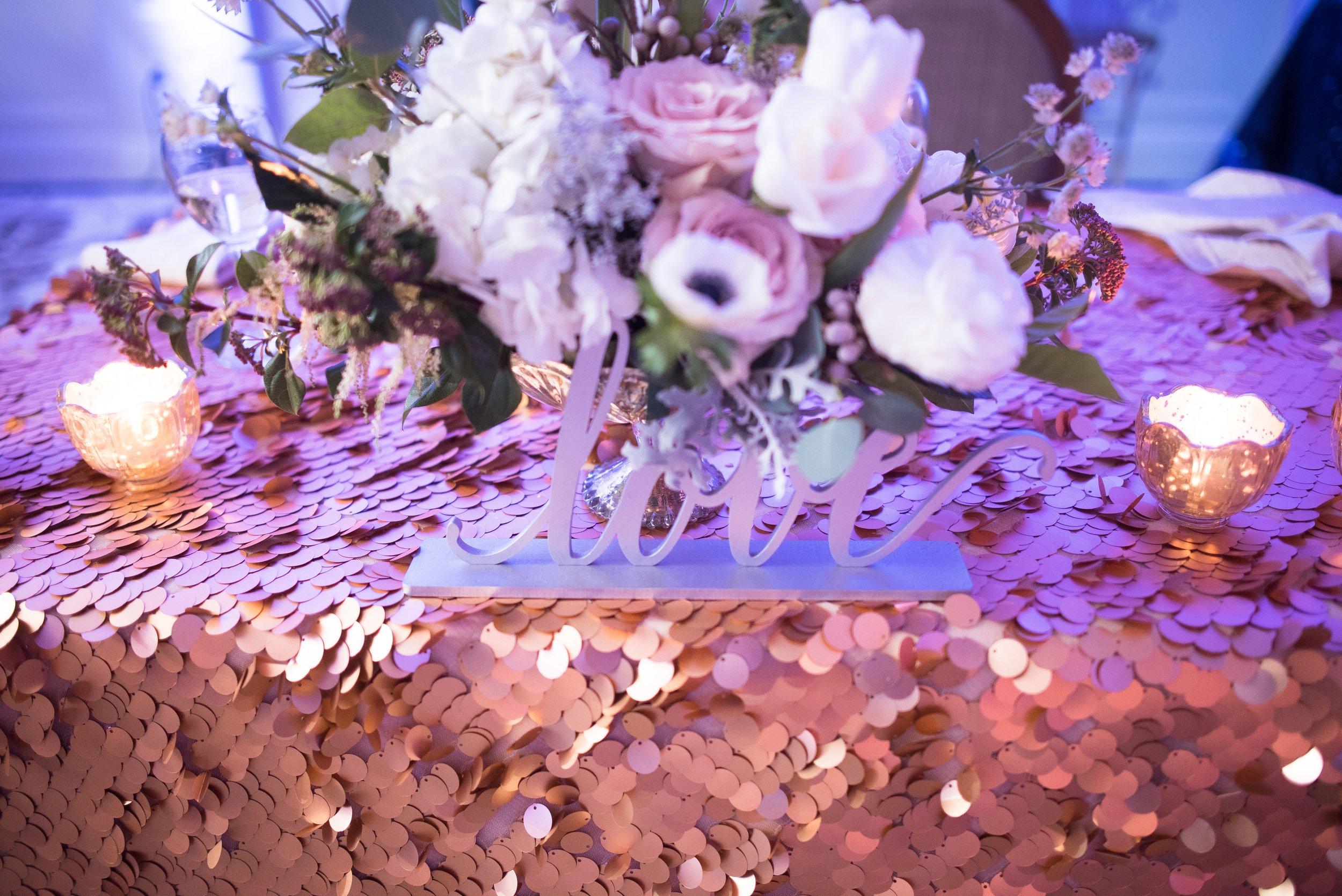 www.santabarbaraweddingstyle.com | San | Felici Events | Belmond El Encanto | Nate & Jenny Weddings | Precious and Blooming | Reception | Navy and Gold Wedding | Sweetheart Table