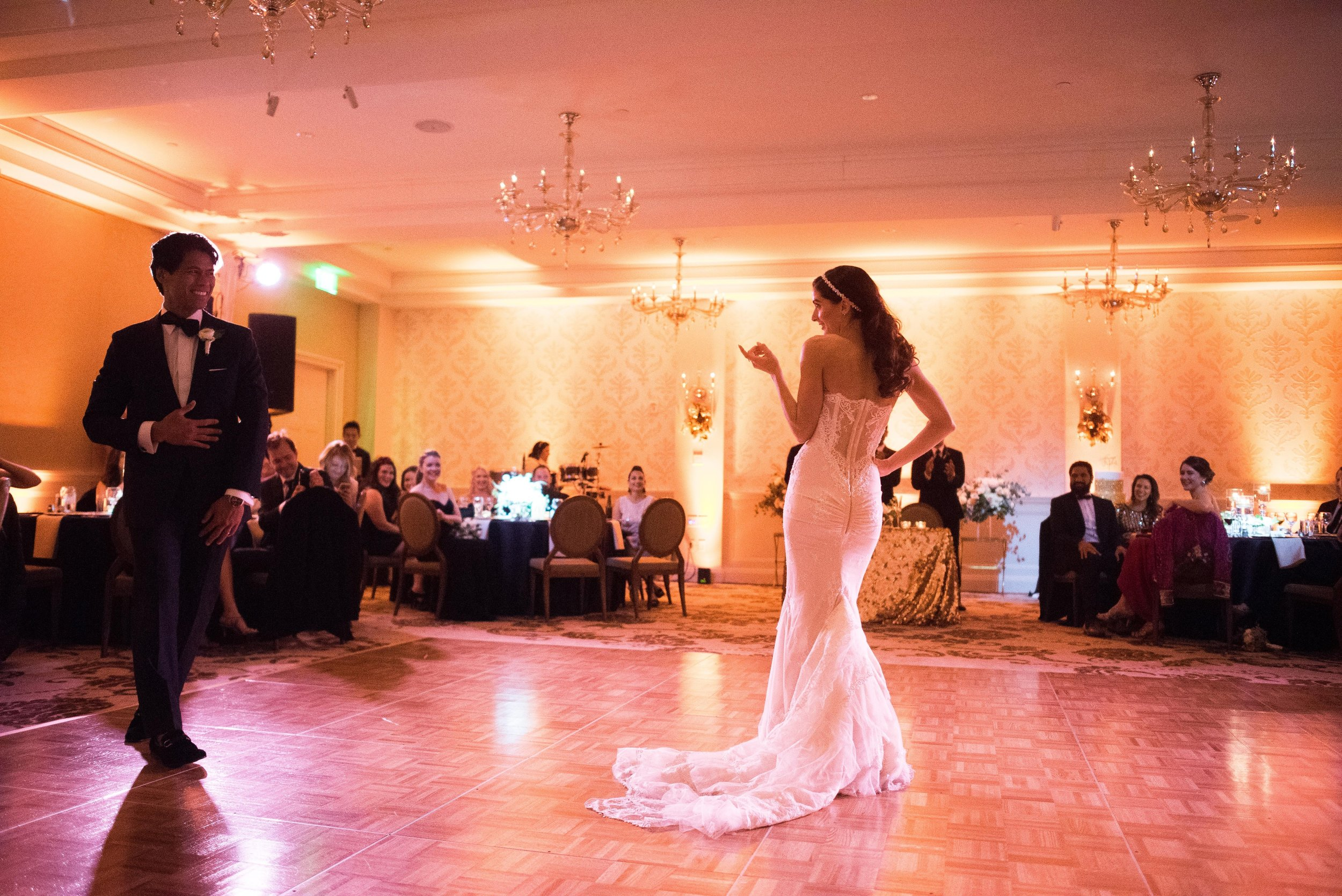 www.santabarbaraweddingstyle.com | San | Felici Events | Belmond El Encanto | Nate & Jenny Weddings | Precious and Blooming | Reception | First Dance