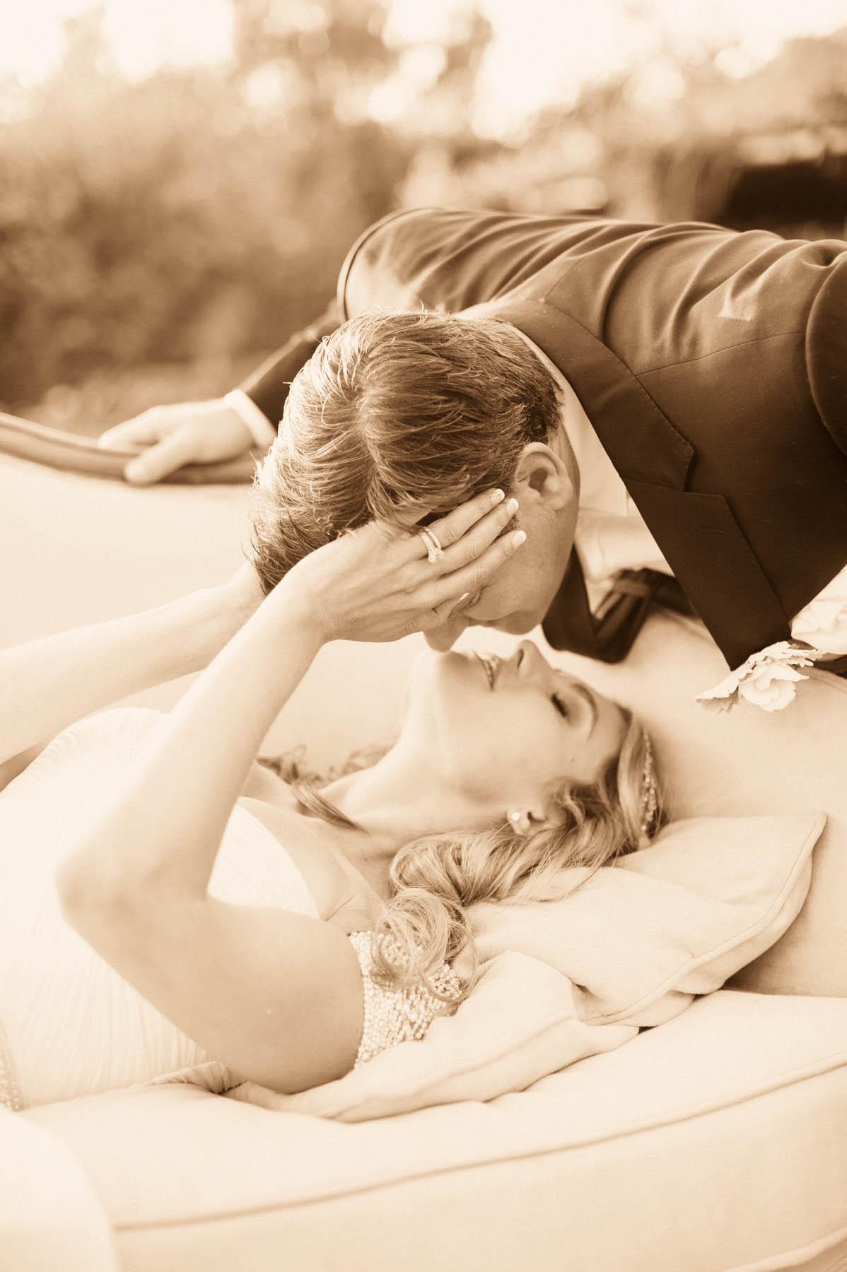 Santa Barbara Weddign Style | Megan Sorel | Bride and Groom Kissing