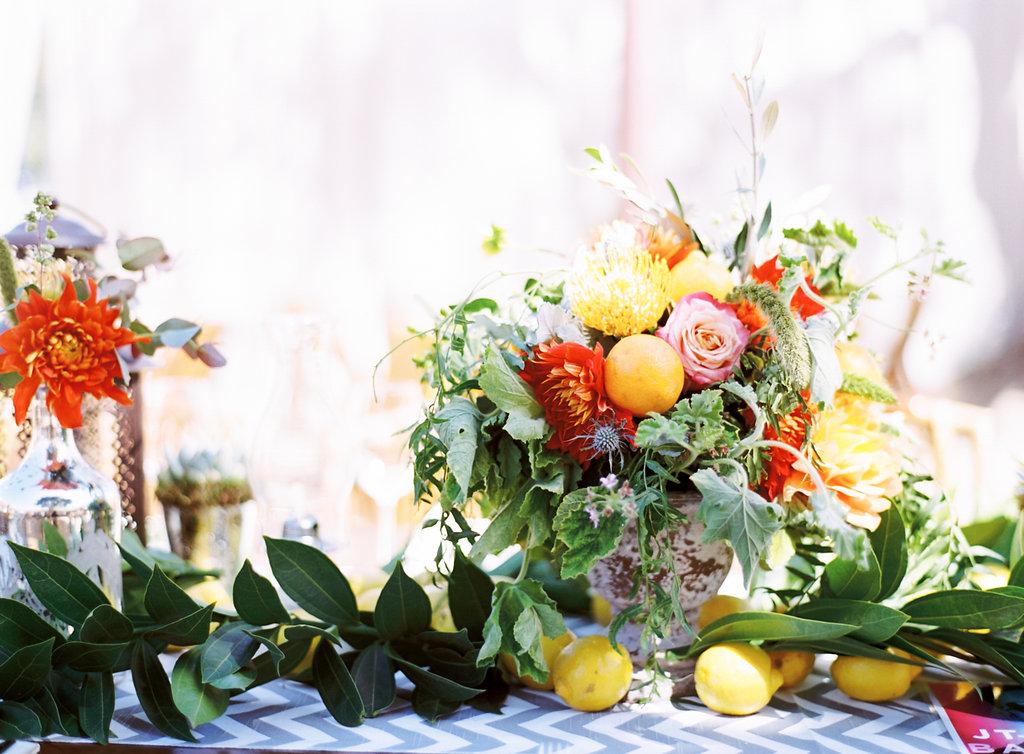 santabarbarawedding.com   Photo: Clarissa Koenig Photography   Yellow and gray wedding ideas
