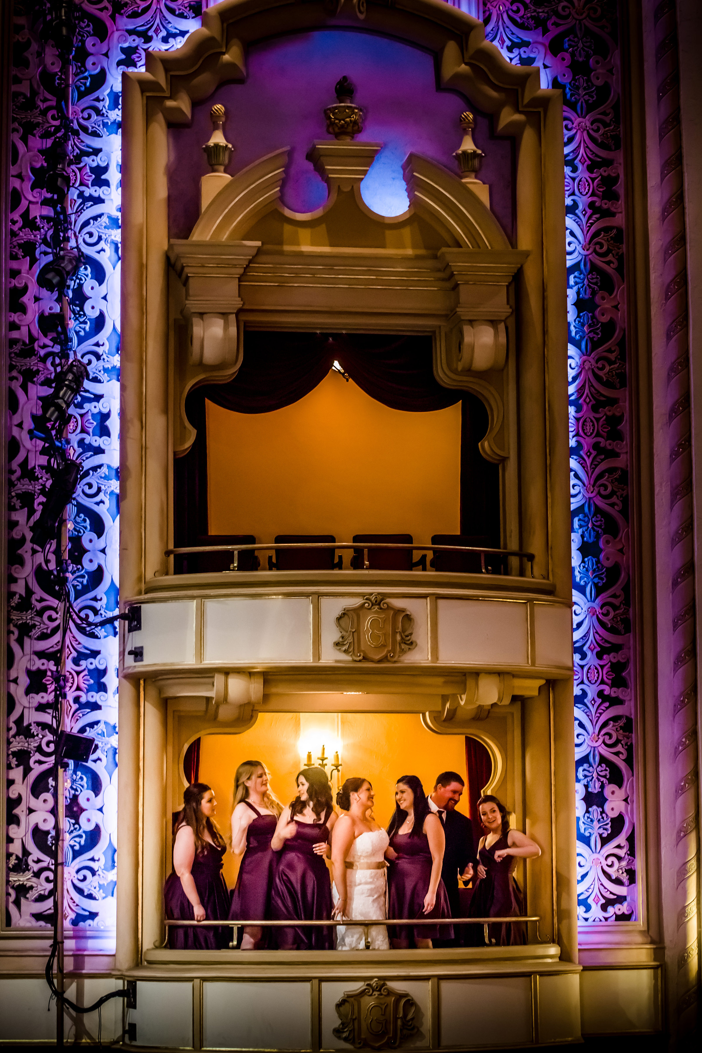 santabarbarawedding.com   The Granada Theatre   Theater Venue   Location Wedding Ceremony   Reception Venue   Balcony