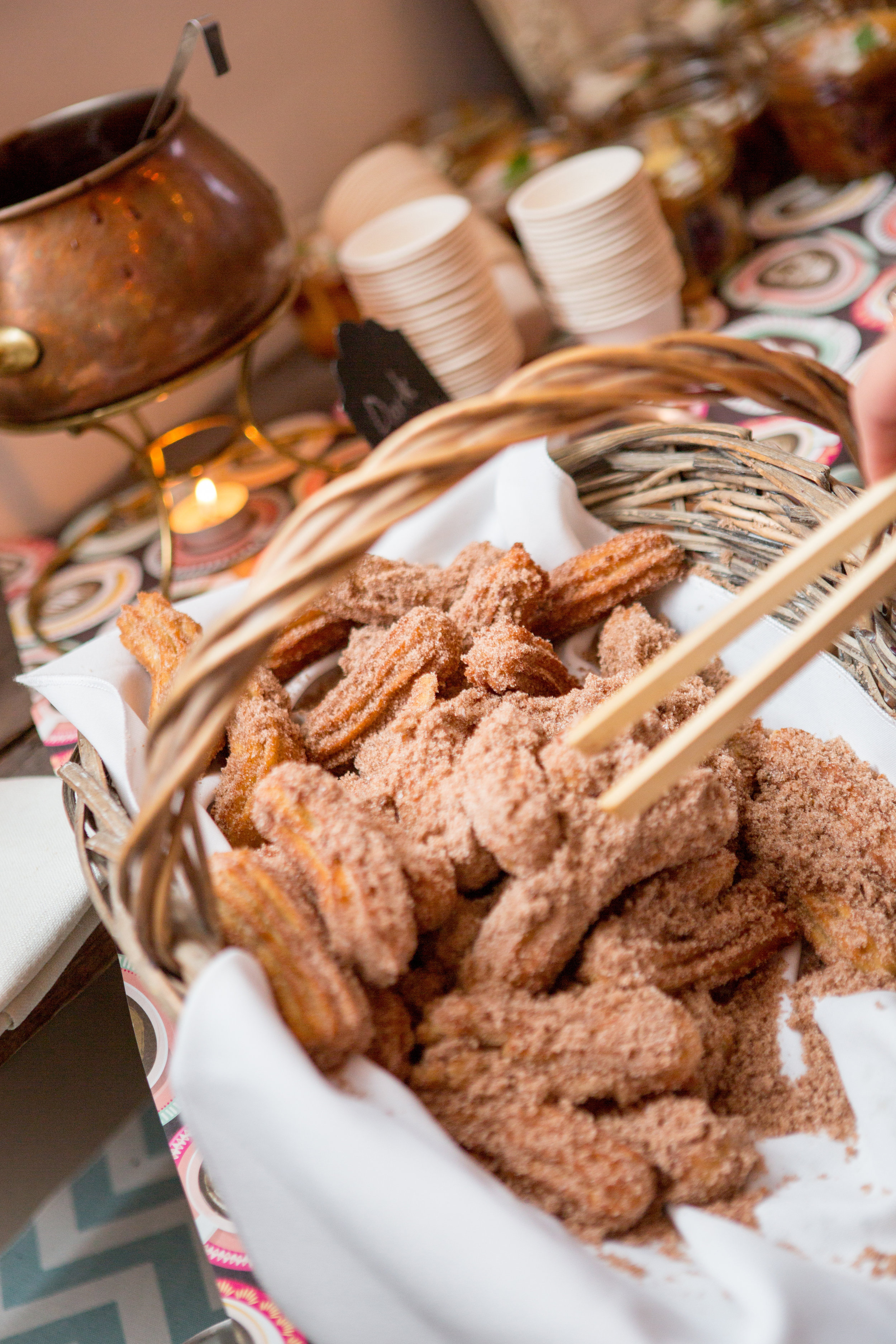 santabarbarawedding.com | Feast & Fest Catering | Brownies in a Basket Dessert | Michael and Anna Costa Photographers