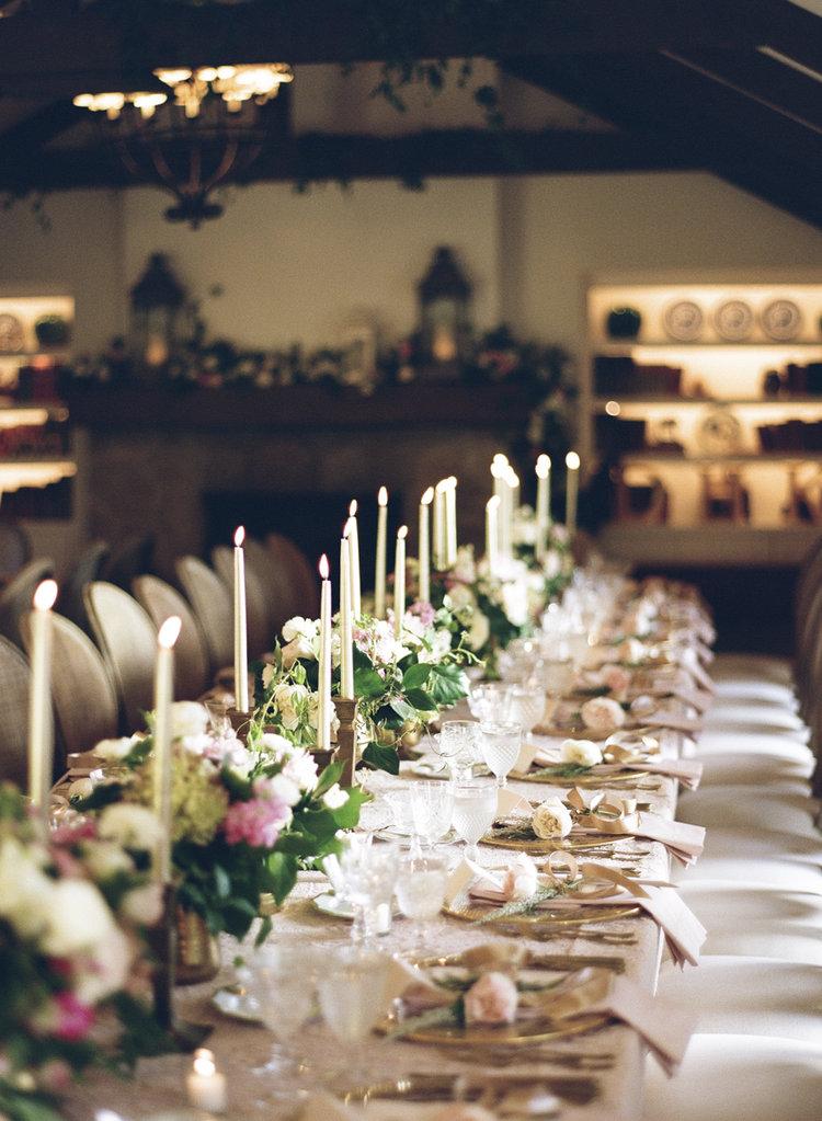 www.santabarbarawedding.com san ysidro ranch wedding reception elegant table