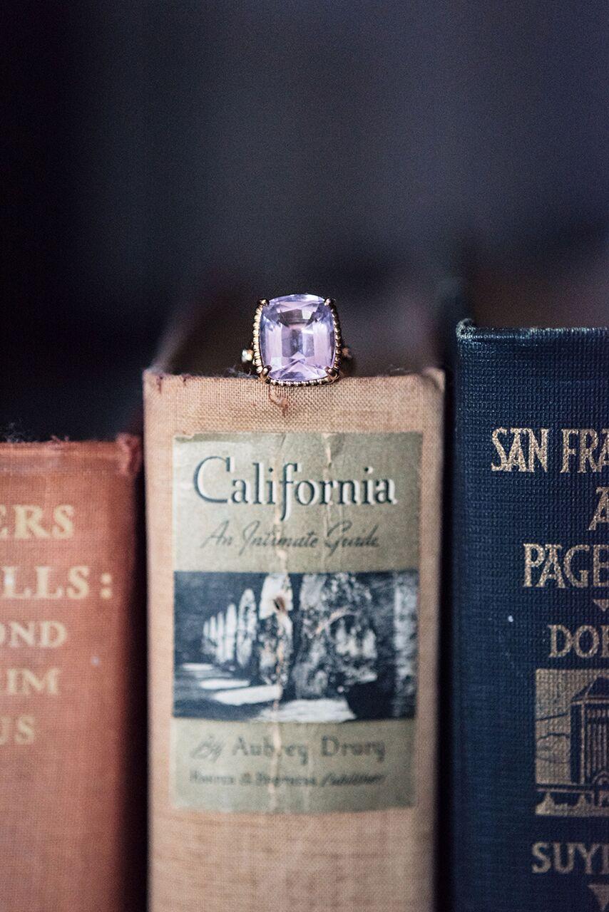 santa barbara wedding style Molly and Co. diamond ring