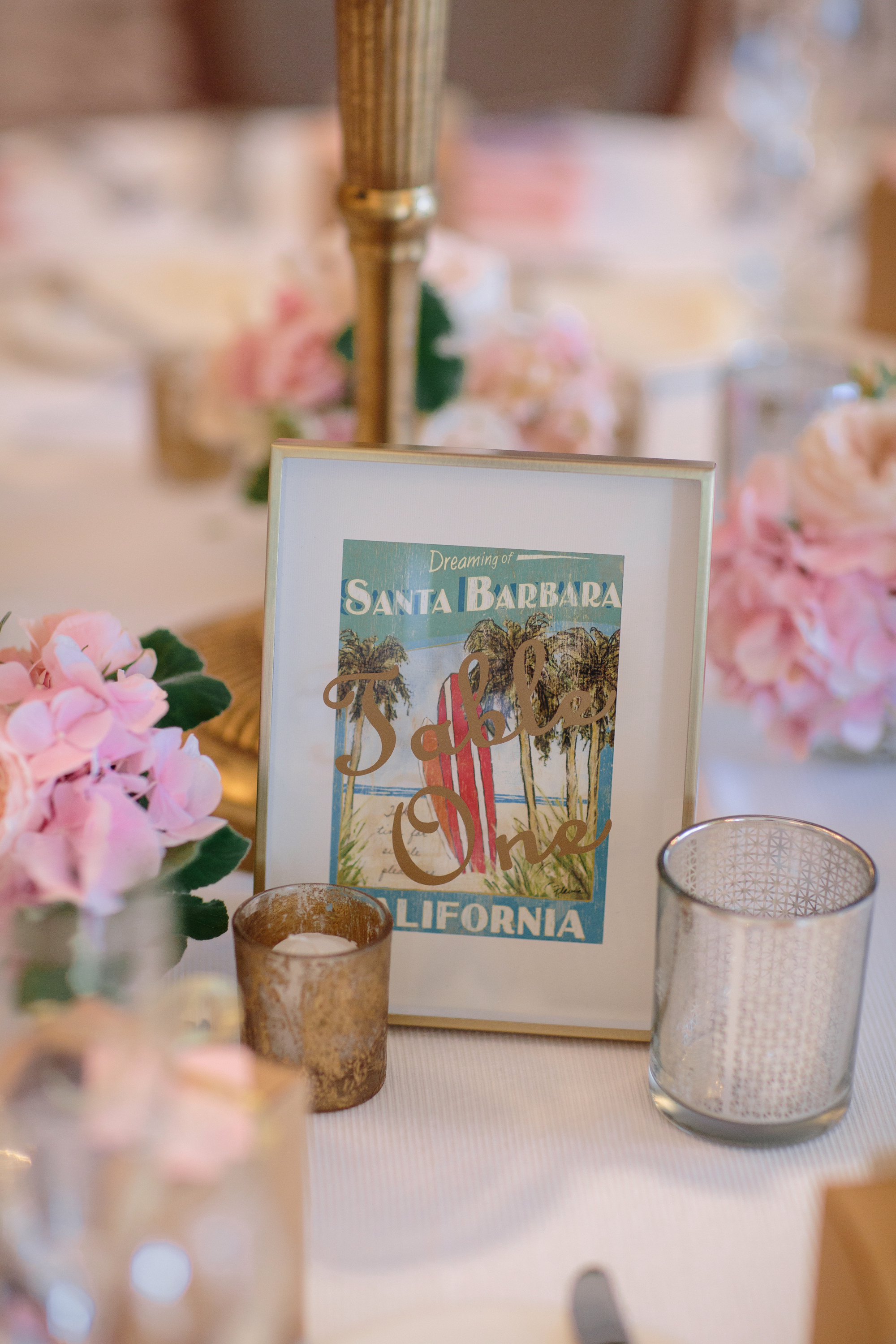 www.santabarbarawedding.com | Shane and Lauren Photography | Belmond El Encanto Santa Barbara | Hogue and Company | Reception Table Numbers