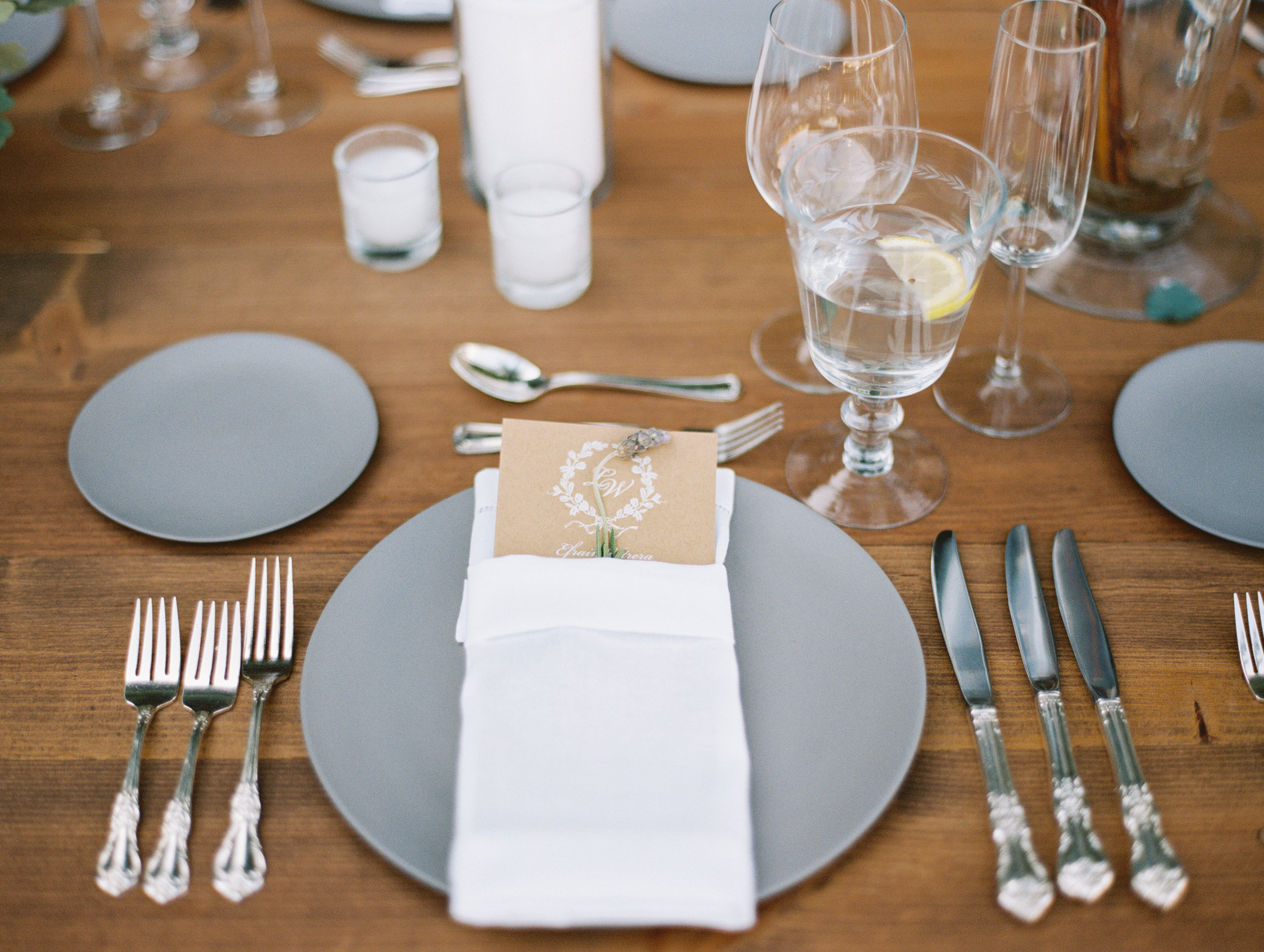 www.santabarbarawedding.com | Pat Moyer Wedding Photography & Films | Santa Barbara Historical Museum | Magnolia Weddings | Camiella Floral Designs | Table Setting