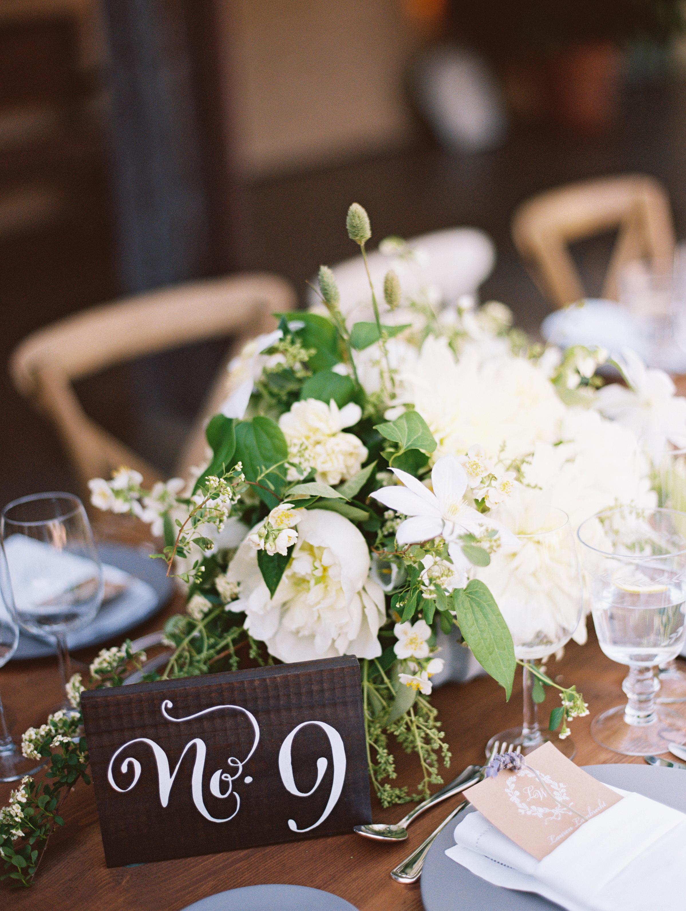 www.santabarbarawedding.com | Pat Moyer Wedding Photography & Films | Santa Barbara Historical Museum | Magnolia Weddings | Camiella Floral Designs | Reception Table Numbers