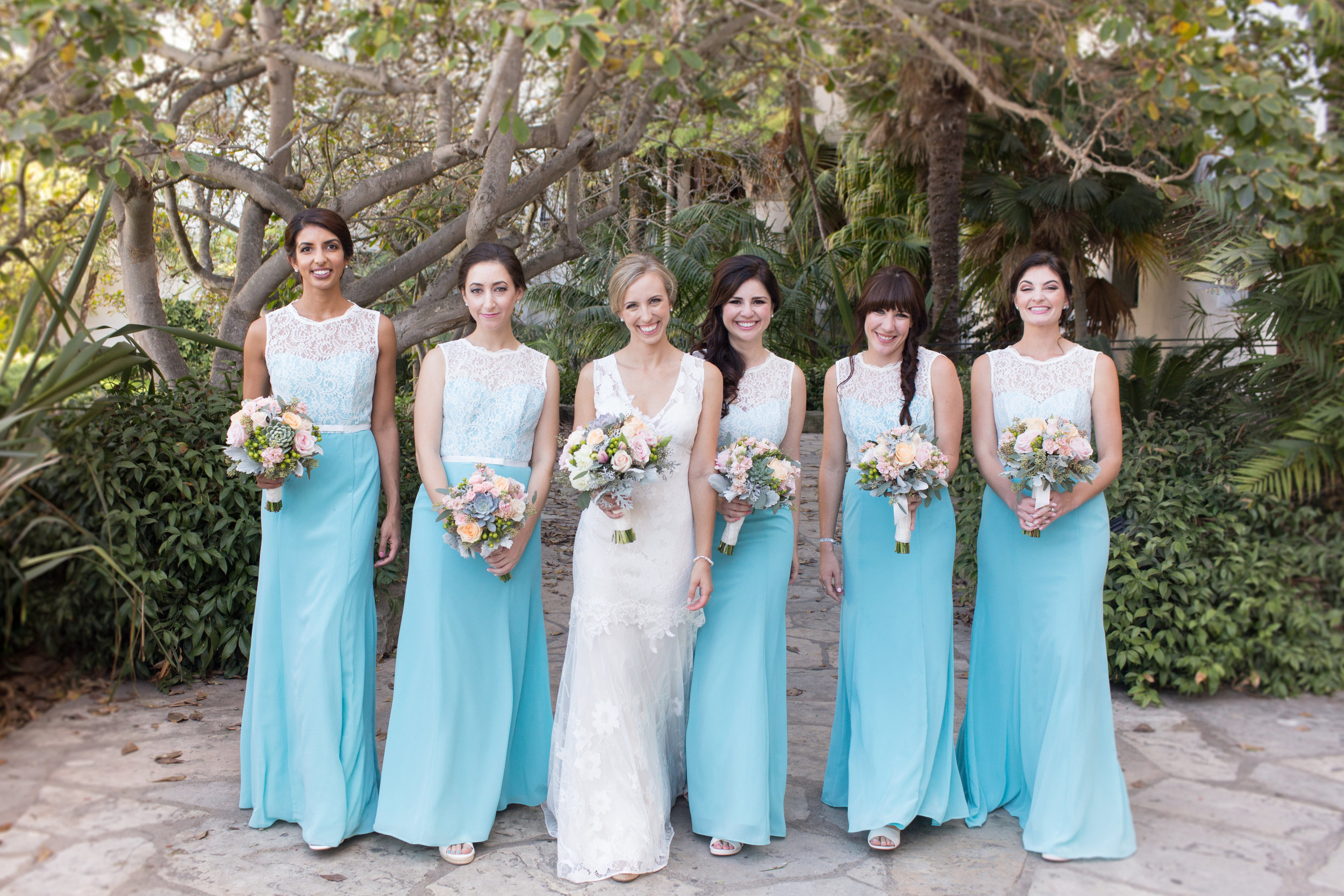 www.santabarbarawedding.com | Anna J Photography | University Club of Santa Barbara | Bridesmaids