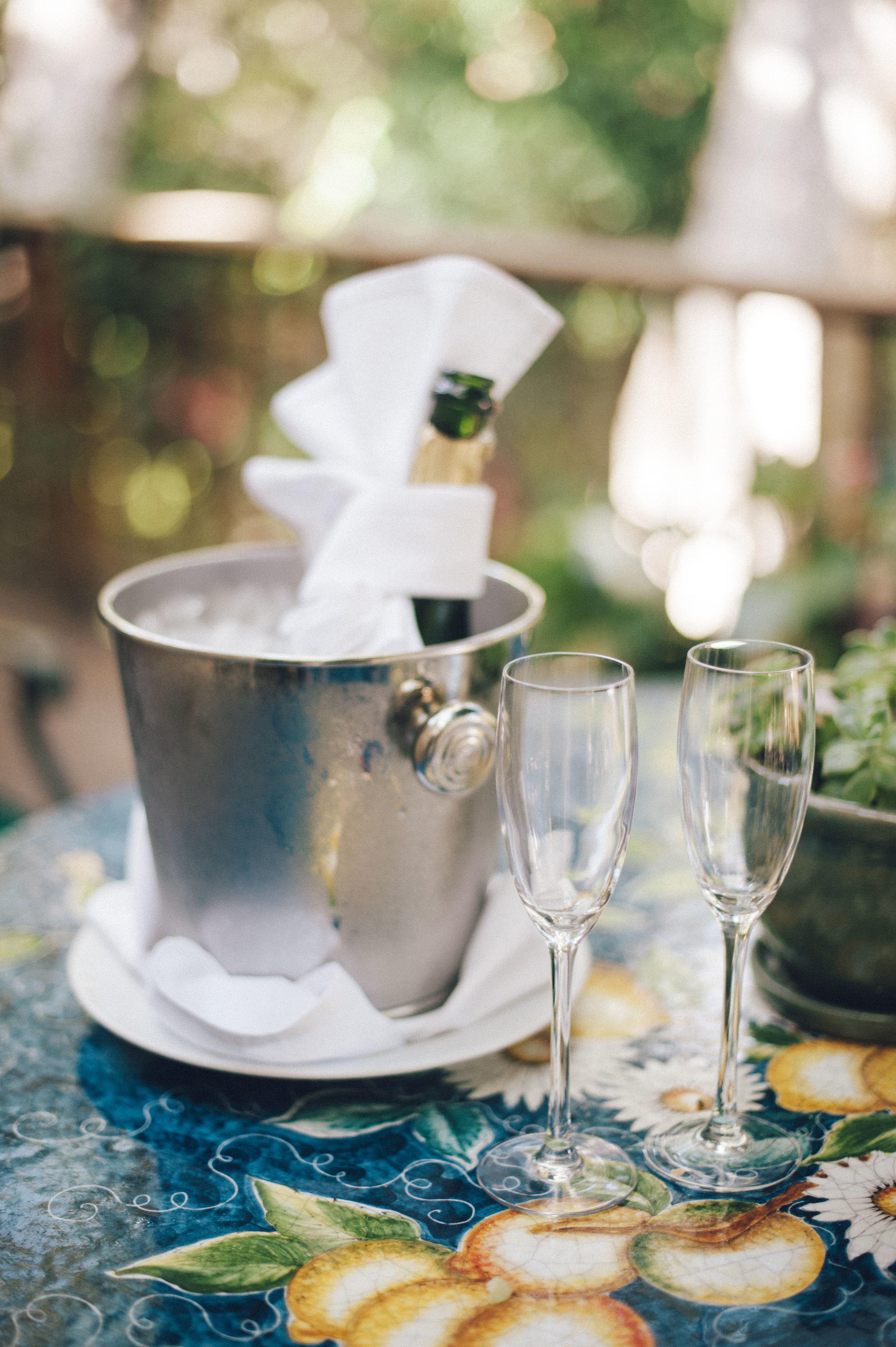 www.santabarbarawedding.com | San Ysidro Ranch | Pat Moyer Photography | Champagne
