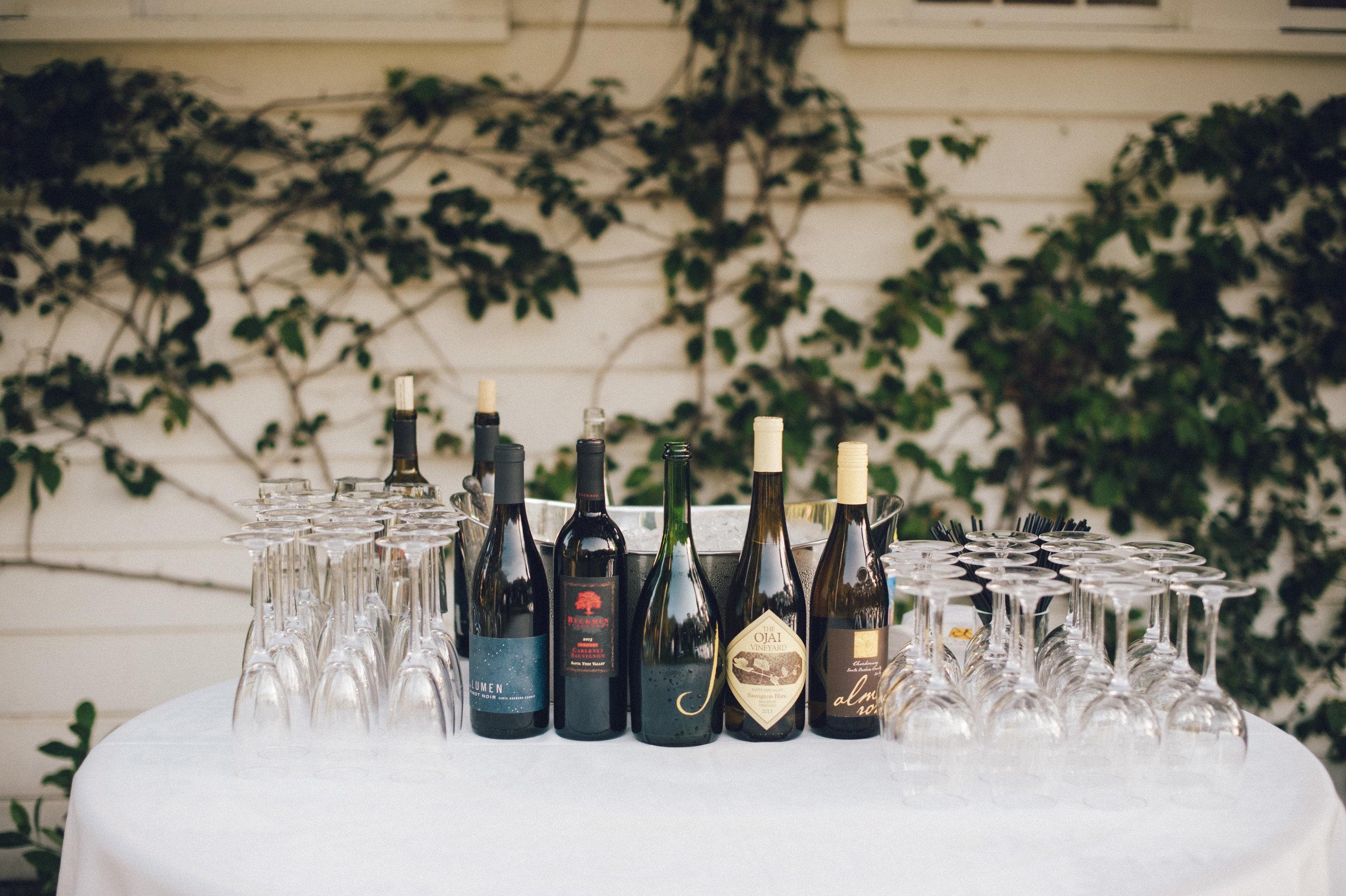 www.santabarbarawedding.com | San Ysidro Ranch | Pat Moyer Photography | Drinks Table