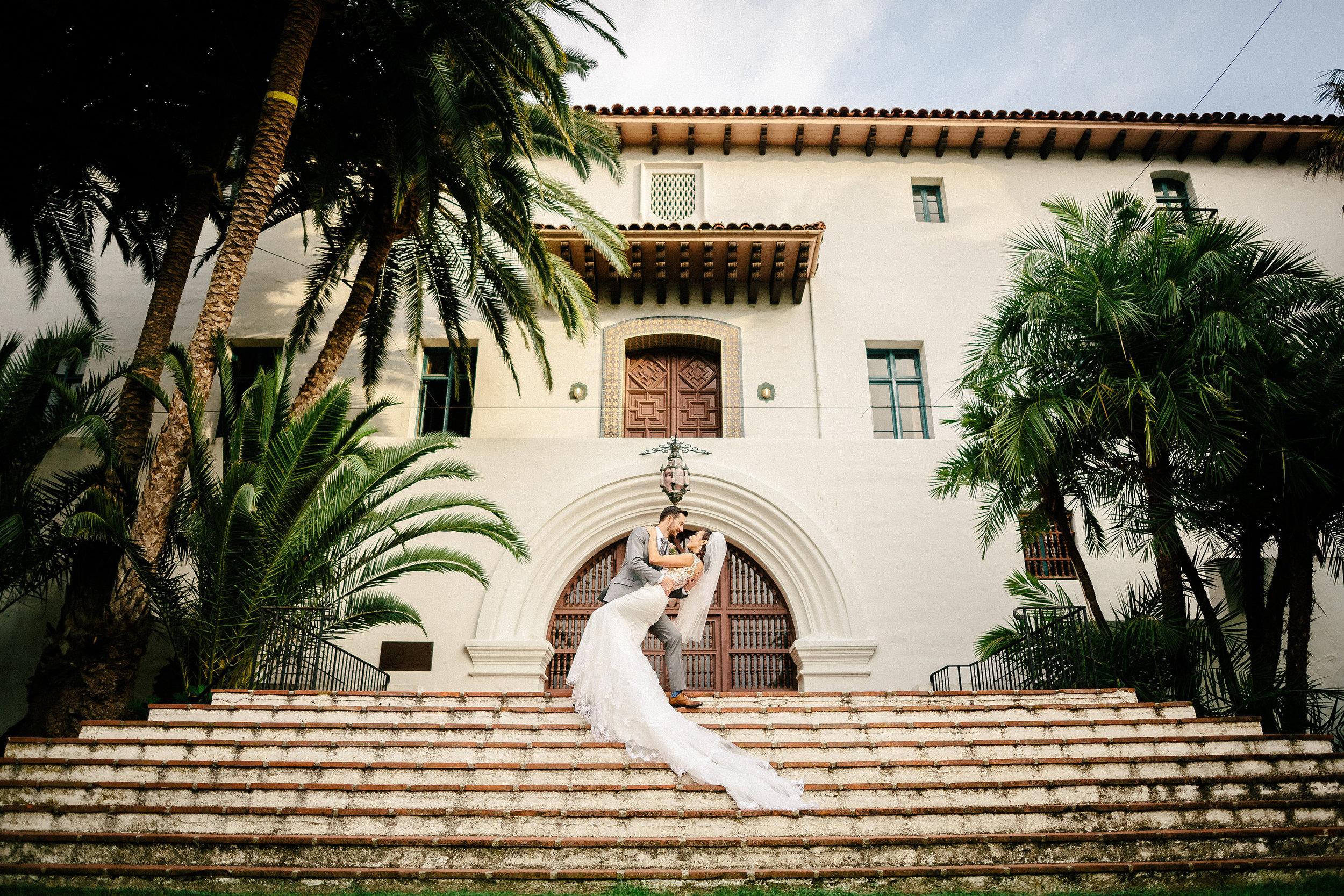 www.santabarbarawedding.com | The Riviera Mansion | Rewind Photography | Bride and Groom