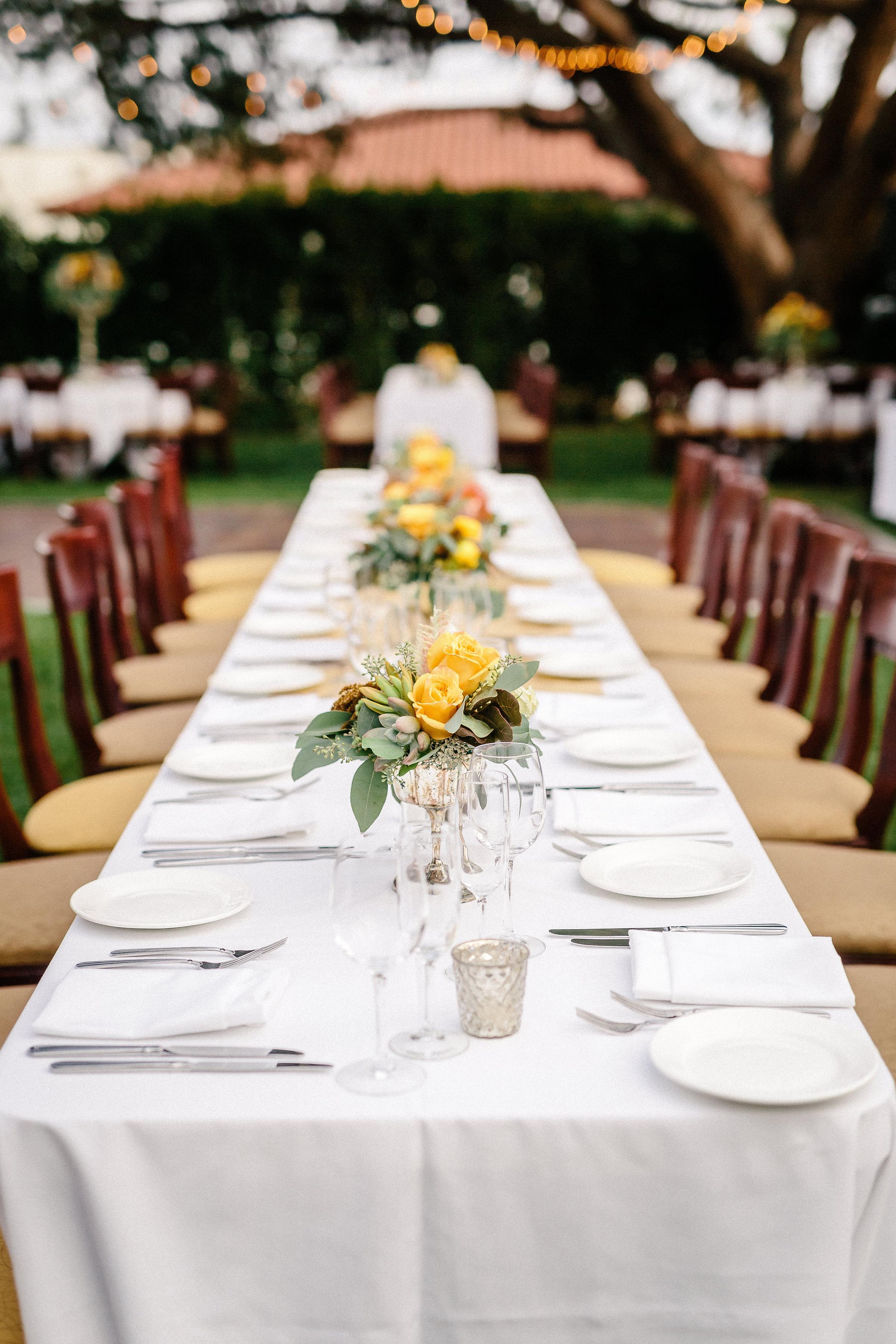 www.santabarbarawedding.com | The Riviera Mansion | Rewind Photography | Reception Table
