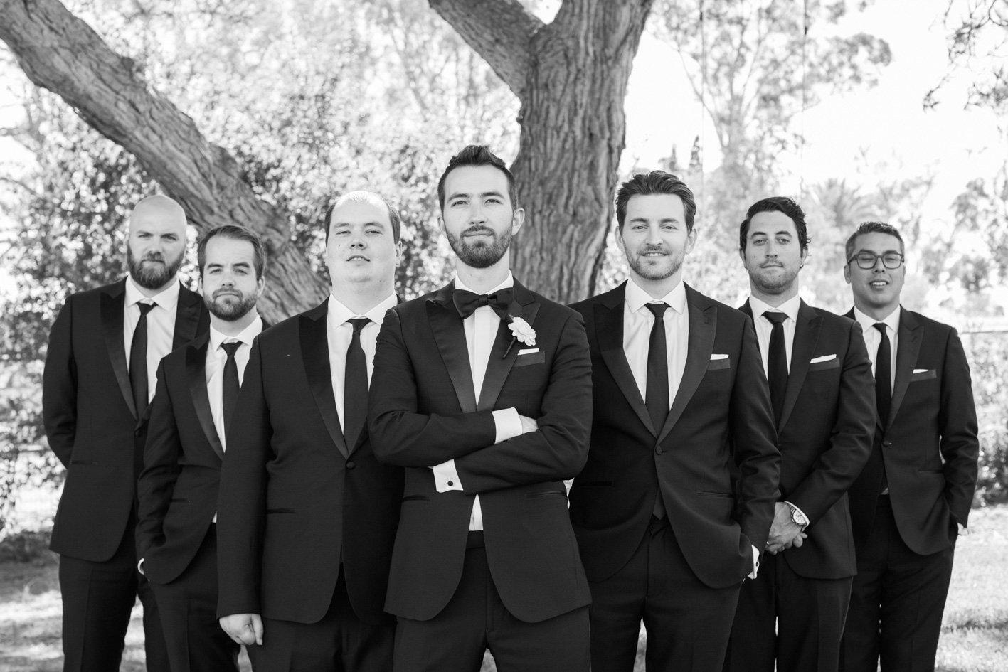 www.santabarbarawedding.com | Anna J Photography | Sogno del Fiore | Groomsmen