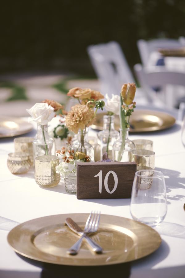 www.santabarbarawedding.com | By Cherry Photography | Rincon Beach Club | Reception Table